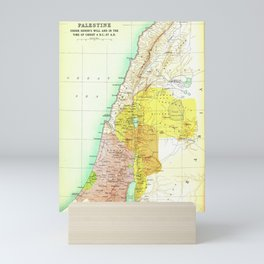 Old 27AD Christ Palestine Map Mini Art Print