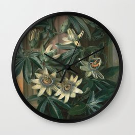 Philip Reinagle - Blue Passion Flower  For The Temple Of Flora Wall Clock