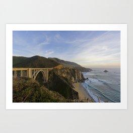 Bixby Bridge at Big Sur Art Print