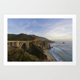 Bixby Bridge at Big Sur Art Print