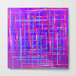Bright Threads Amethyst Jewel Tones Metal Print