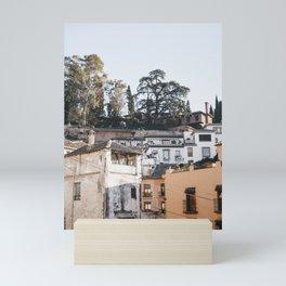 Undiscovered Granada Streets   Spanish architecture   Bright & Airy Street Photography, Spain Travel Prints Mini Art Print