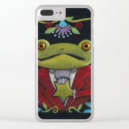 Mister Frog Clear iPhone Case