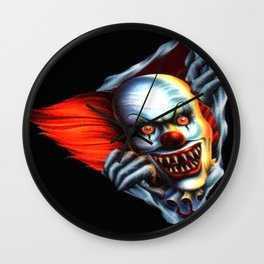 Evil Clown Wall Clock