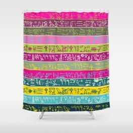 Egyptian hieroglyphs No2 Shower Curtain