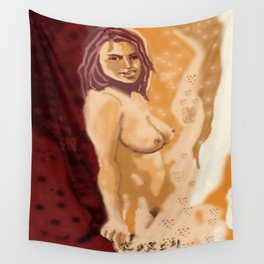 Waiting nude Wall Tapestry