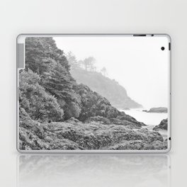 Washington Coast Mist Fog Shoreline Beach Pacific Ocean Long Beach Beards Hollow Forest Northwest Laptop & iPad Skin