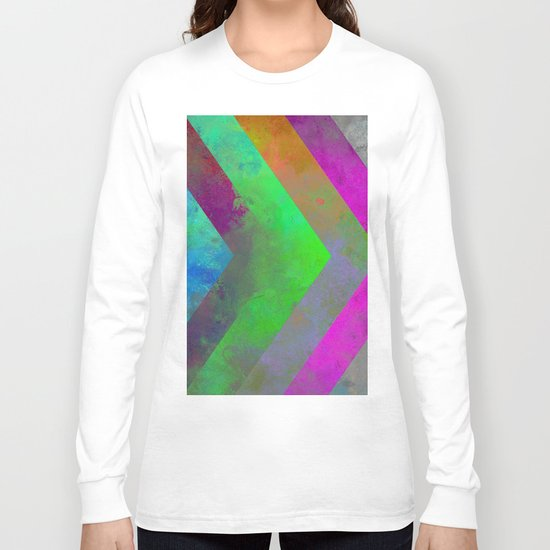 Textured Direction - Abstract, multi coloured, geometric painting Long Sleeve T-shirt