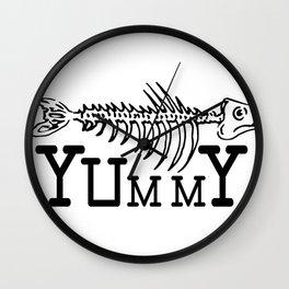Yummy Fish Skeleton Wall Clock