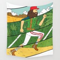 run Wall Tapestries featuring Run by Derek Eads