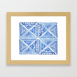 Geo tile art Framed Art Print
