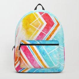 Lake Sunset - Colorful Geometric Backpack