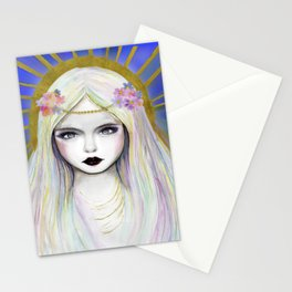 The rainbow Eve madona or lilith Stationery Cards