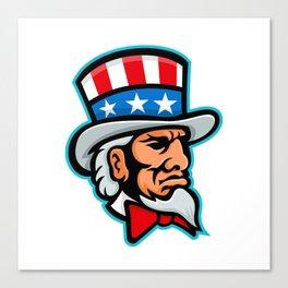 Uncle Sam Mascot Canvas Print
