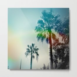 Palm trees of Barcelona Metal Print