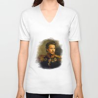 robert farkas V-neck T-shirts featuring Robert Downey Jr. - replaceface by replaceface