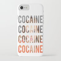 lindsay lohan iPhone & iPod Cases featuring LINDSAY LOHAN - COCAINE by Beauty Killer Art
