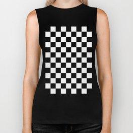 Checker (Black/White) Biker Tank