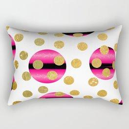 NL 9 6 Abstract Polka Dots Rectangular Pillow