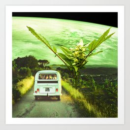 Road trip with the buds Art Print