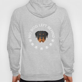 No Dog Left Behind Funny Graphic T-shirt Hoody