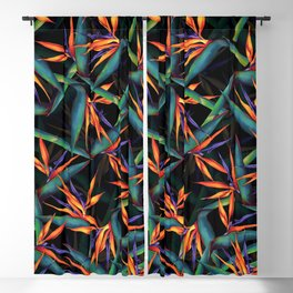 Tropical Leaf Pattern Blackout Curtain