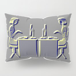 Contemporary Office's Icon: girls at the laptop Pillow Sham