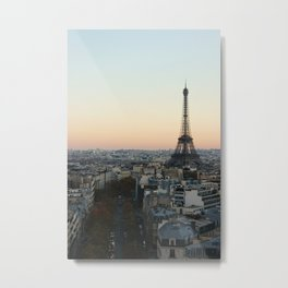 View from L'Arc de Triomphe Metal Print