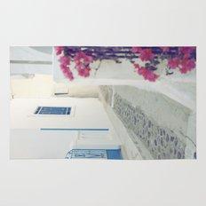 White Santorini Street Rug