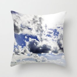 cloud-covered Throw Pillow