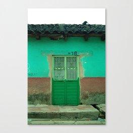 Green Door NO2 Canvas Print