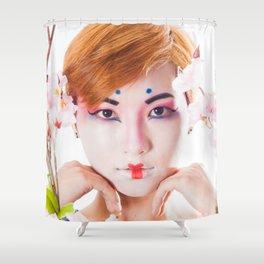 Geisha Portrait Shower Curtain