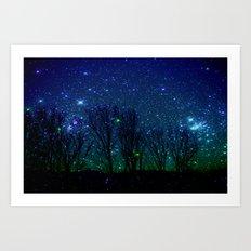 shining stars Art Print