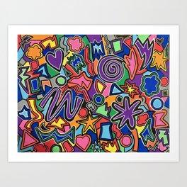 Libmandy Art: COLOR EXPLOSION Art Print