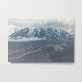 Close up view of volcano Chachani Metal Print