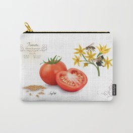 Tomato and Pollinators Carry-All Pouch
