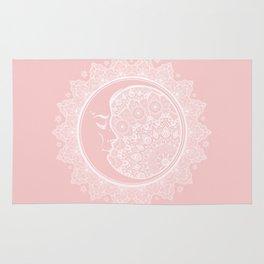 Mandala Moon Pink Rug