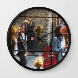 Ice Cream Obsessions , Florence, Italy Wall Clock