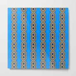 Beautiful Blue Beadwork Inspired Fashion Print Metal Print