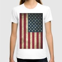 american flag T-shirts featuring American Flag by Abbie :)
