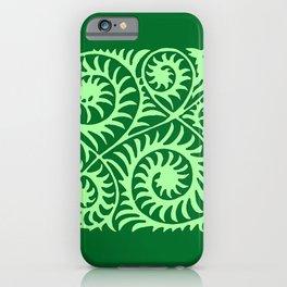William de Morgan Abstract Fern, Emerald Green iPhone Case