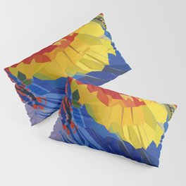 Parrot Macaw Digital Art Print Pillow Sham