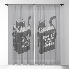 How to get away with murder Sheer Curtain