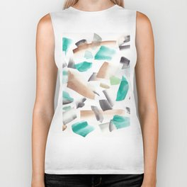 180719 Koh-I-Noor Watercolour Abstract 39| Watercolor Brush Strokes Biker Tank