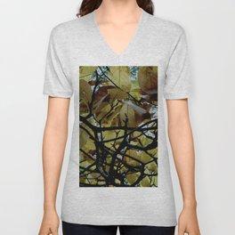 Umbrella Tree ~ Autumn Unisex V-Neck