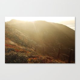 big sur cliffs Canvas Print