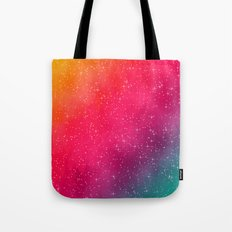 Colorful Galaxy Tote Bag