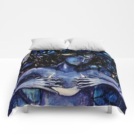 Nuit The Star Goddess Comforters