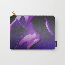 Nude In Lilac and PurplePurple Young Beautiful Nude Woman With Towel Carry-All Pouch