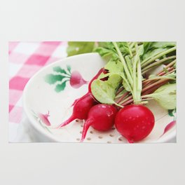 Radishes on a plate Rug